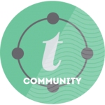 Turner Communiyt circle graphic | Community Service is one of Turner Technology's core values