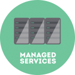 managed IT service circle graphic | Turner Technology offers flexible support programs for managed services