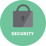 Security circle graphic | Turner Technology offers Security products to protect your email and financial information