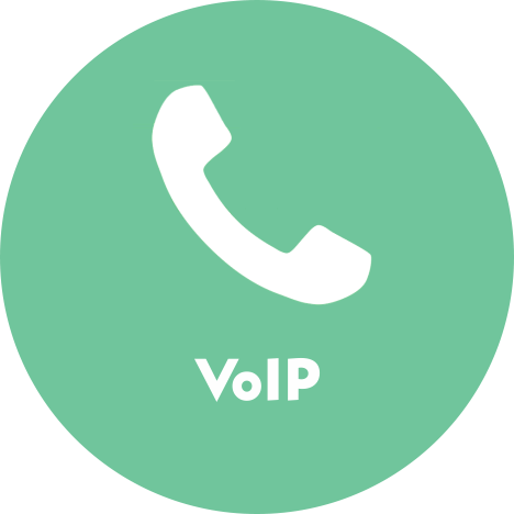 VOIP product Circle | Voice over IP or Internet Protocol